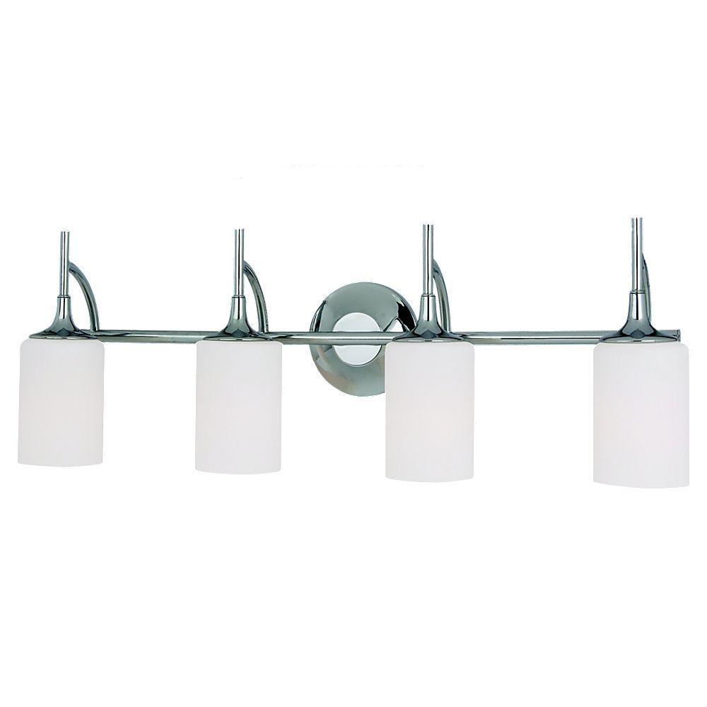 Sea Gull Lighting Stirling 4-Light Chrome Vanity Light