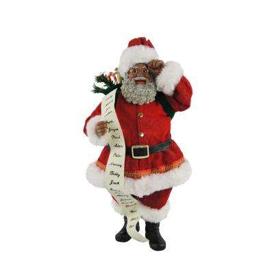 10 in. Black Traditional Santa List