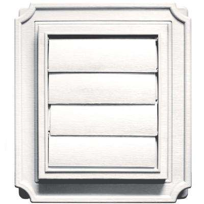 Scalloped Exhaust Siding Vent #117-Bright White