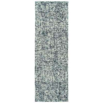 Lucero Charcoal 2 ft. 6 in. x 8 ft. Runner Rug