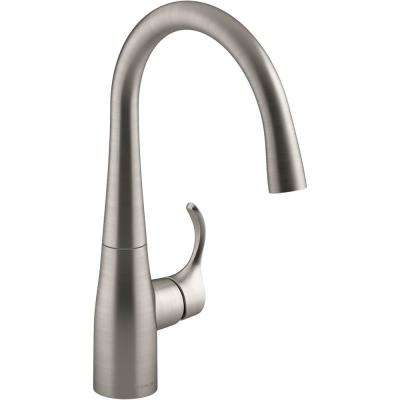 Simplice Single-Handle Bar Faucet in Vibrant Stainless