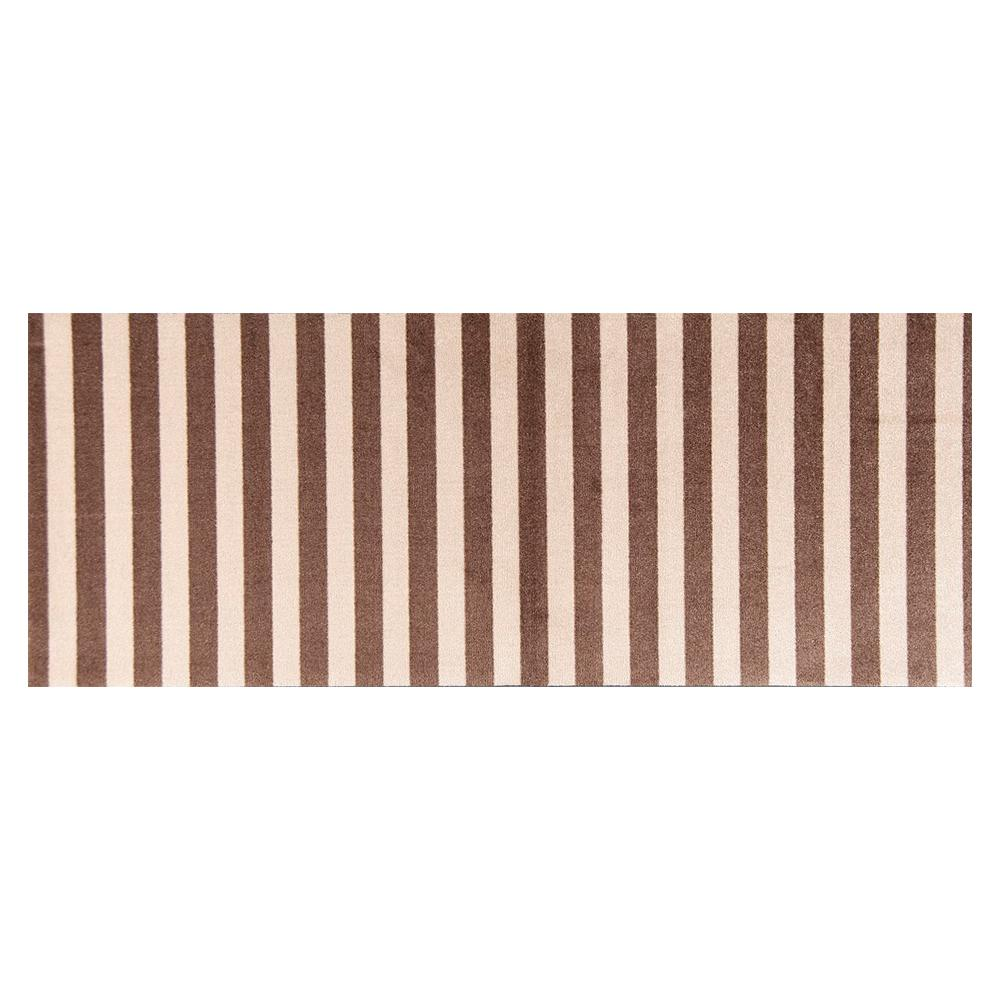 Studio 67 In-Home Washable/Non-Slip Cabana Taupe 2 ft. 3 in. x 6 ft. 3 in. Runner Rug