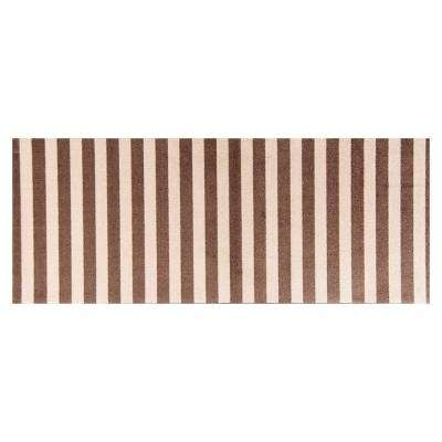 In-Home Washable/Non-Slip Cabana Taupe 2 ft. 3 in. x 6 ft. 3 in. Area Rug & Mat