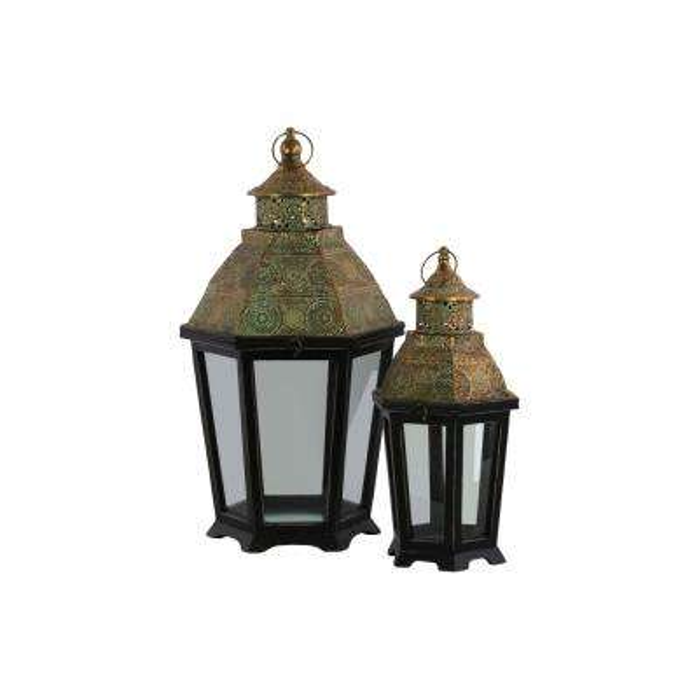Coated Black Candle Lantern