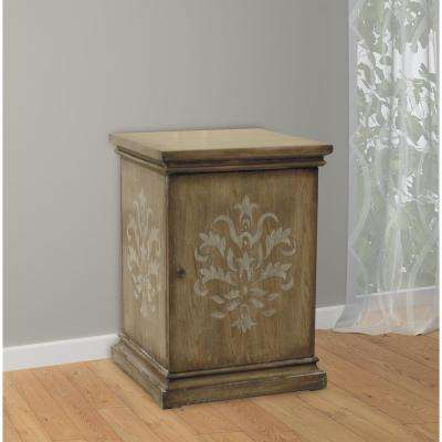 Natural Storage Side Table