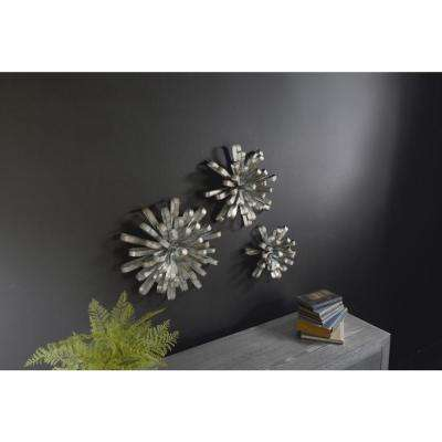 Metal Antique Silver Wall Bows (Set of 3)