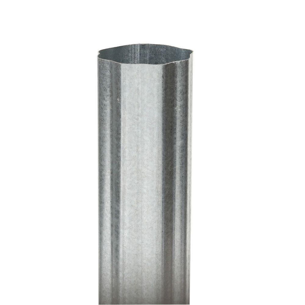 3 in. Round Corrugated Galvanized Downspout