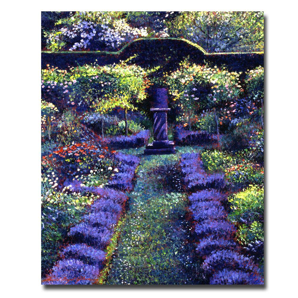 Trademark Fine Art 26 in. x 32 in. Blue Garden Sunset Canvas Art