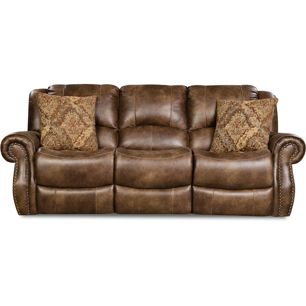 Stratton Chocolate Double Reclining Sofa