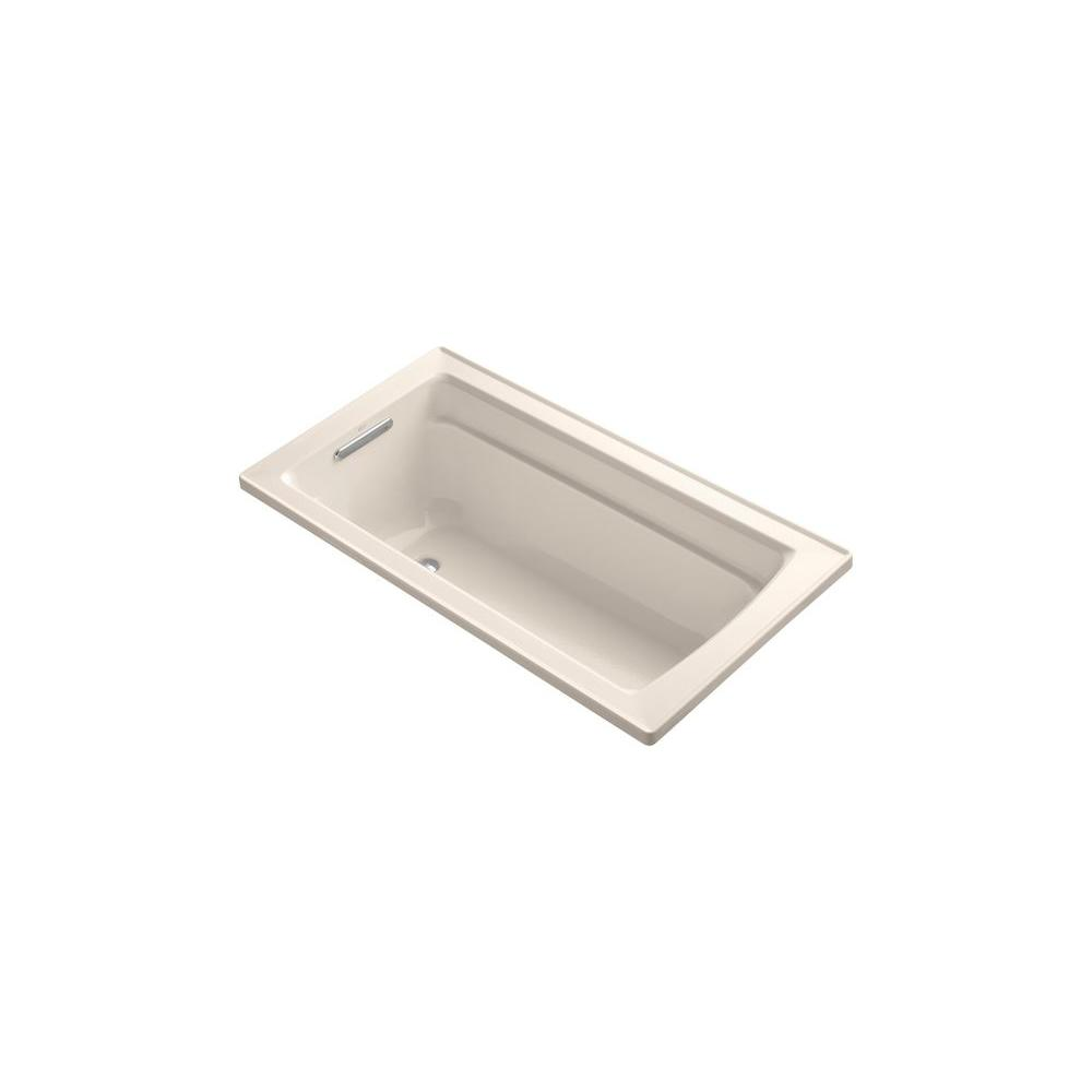 KOHLER Archer 5 ft. Bathtub in Innocent Blush-DISCONTINUED
