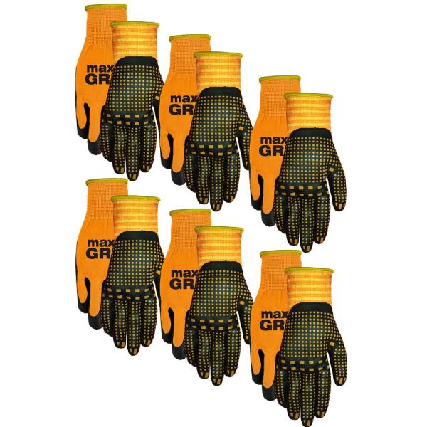 Men's Max Grip Gloves (6-Pack)