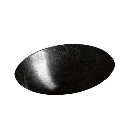 Sartorial Vessel Sink in Paisley in Black on Caxton