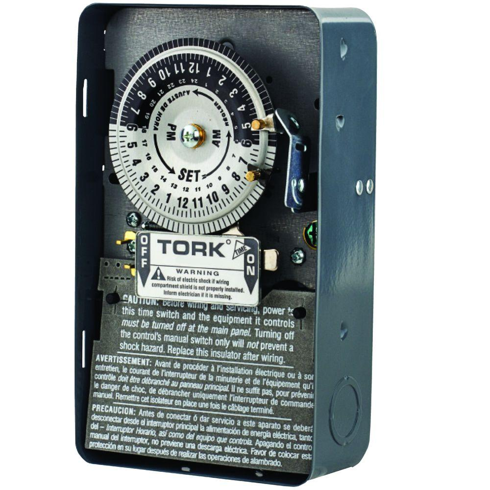 metal indoor nema 1 enclosure tork timers 1101b 64_1000 tork timers dimmers, switches & outlets the home depot tork ewz101 wiring diagram at webbmarketing.co