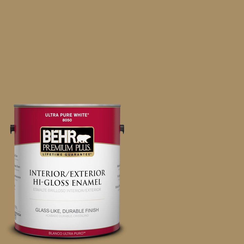 1-gal. #350F-6 Fossil Butte Hi-Gloss Enamel Interior/Exterior Paint