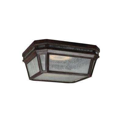Londontowne Weathered Chestnut Integrated LED Outdoor Flush Mount