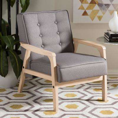 Timor Gray Fabric Upholstered Accent Chair