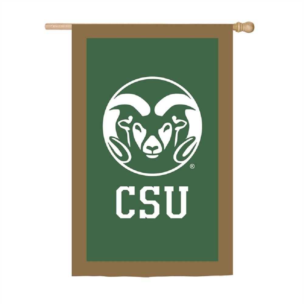 2.4 ft. x 3.6 ft. Colorado State University Applique House Flag