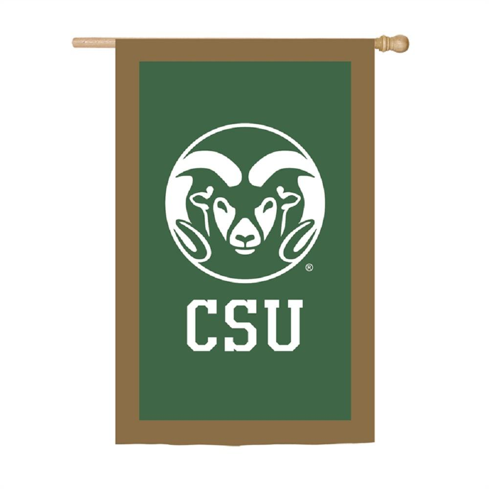 2.4 ft. x 3.6 ft. Colorado State University Applique House Flag
