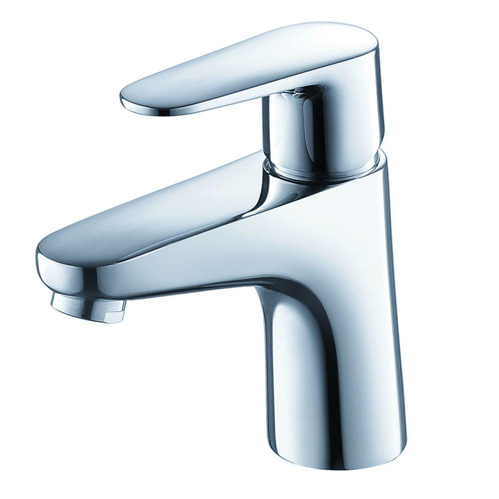 Diveria Single Hole 1-Handle Low-Arc Bathroom Faucet in Chrome