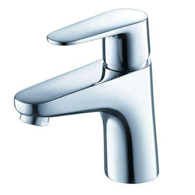 Diveria Single Hole 1-Handle Low-Arc Bathroom Faucet in Chrome