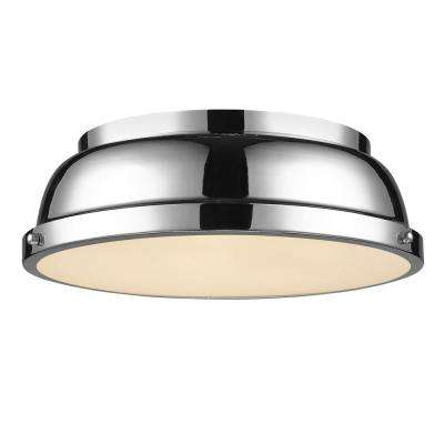 Duncan CH -Light Chrome Flush Mount