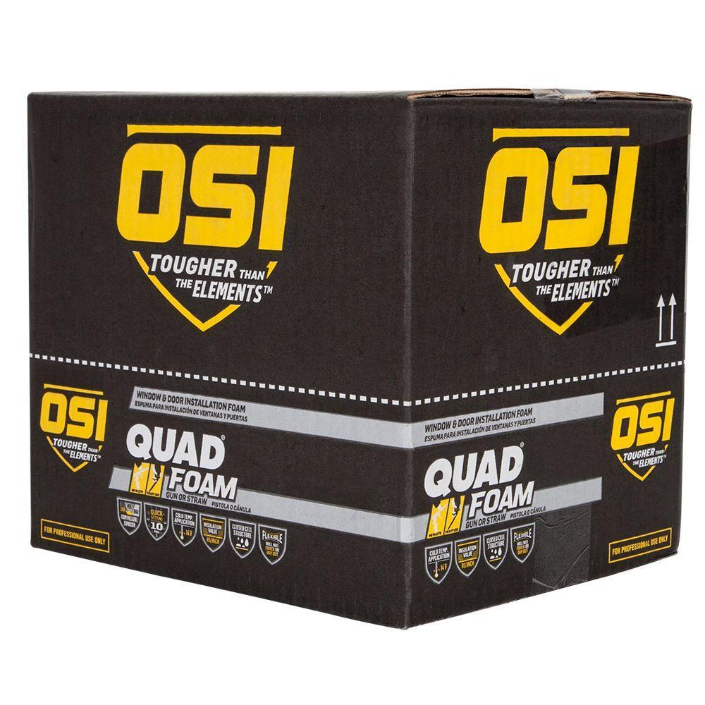 QUAD 16 fl. oz. Window and Door Installation Foam (12-Pack)