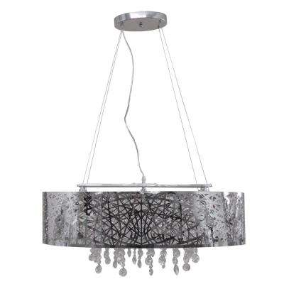 5-Light Chrome Chandelier with Chrome Steel Shade
