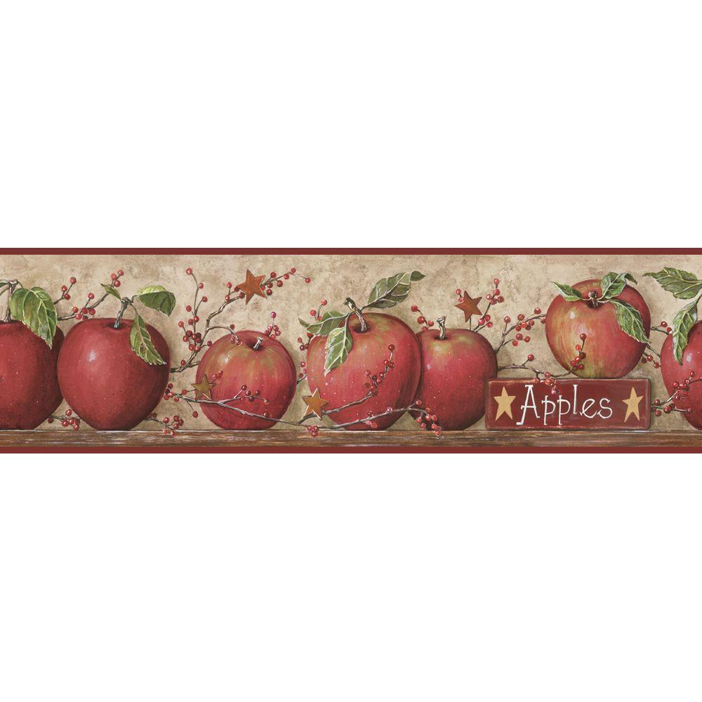 York Wallcoverings Apple Wallpaper Border