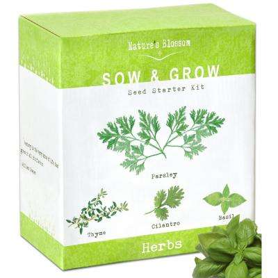 4 Seed Basil, Cilantro, Parsley and Thyme Herb Garden Kit