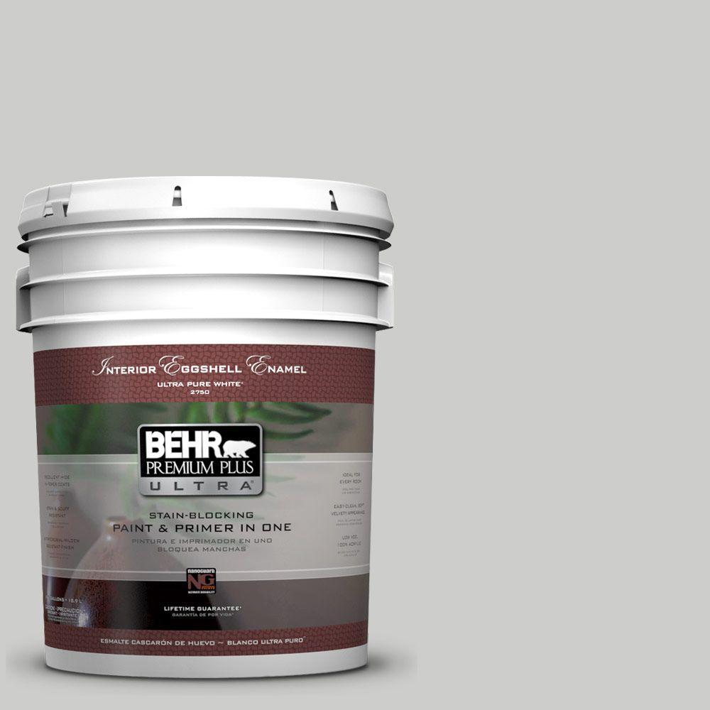 BEHR Premium Plus Ultra 5-gal. #PPL-64 Pewter Vase Eggshell Enamel Interior Paint