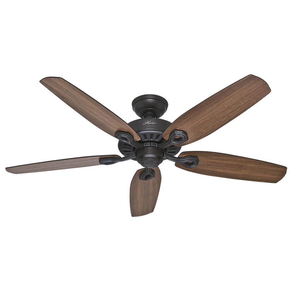 Hunter builder elite 52 in indoor new bronze ceiling fan 53242 indoor new bronze ceiling fan aloadofball