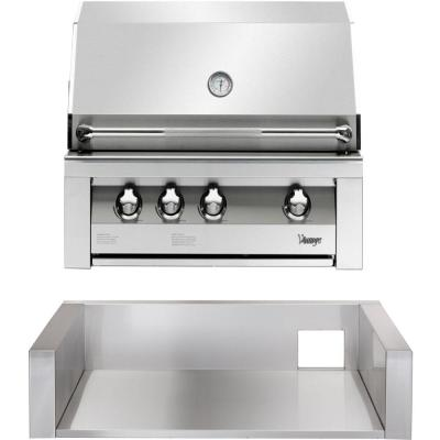 36 in. Built-In Natural Gas Grill in Stainless with Sear Zone and Jacket