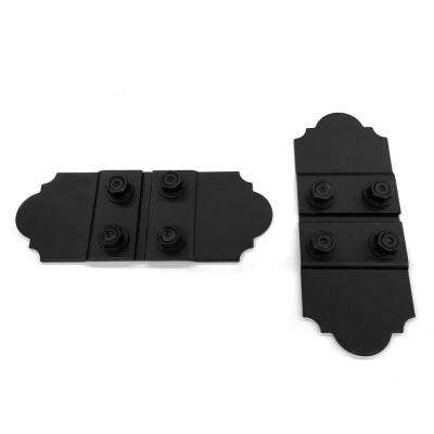 5 in. Black Galv. Steel Butt Joint Flush Wood Connector with Laredo Sunset Truss Accent Plates (2 sets per box)
