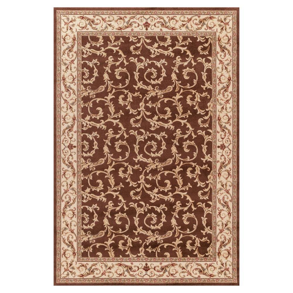 Concord Global Trading Jewel Veronica Brown 7 ft. x 9 ft. Area Rug