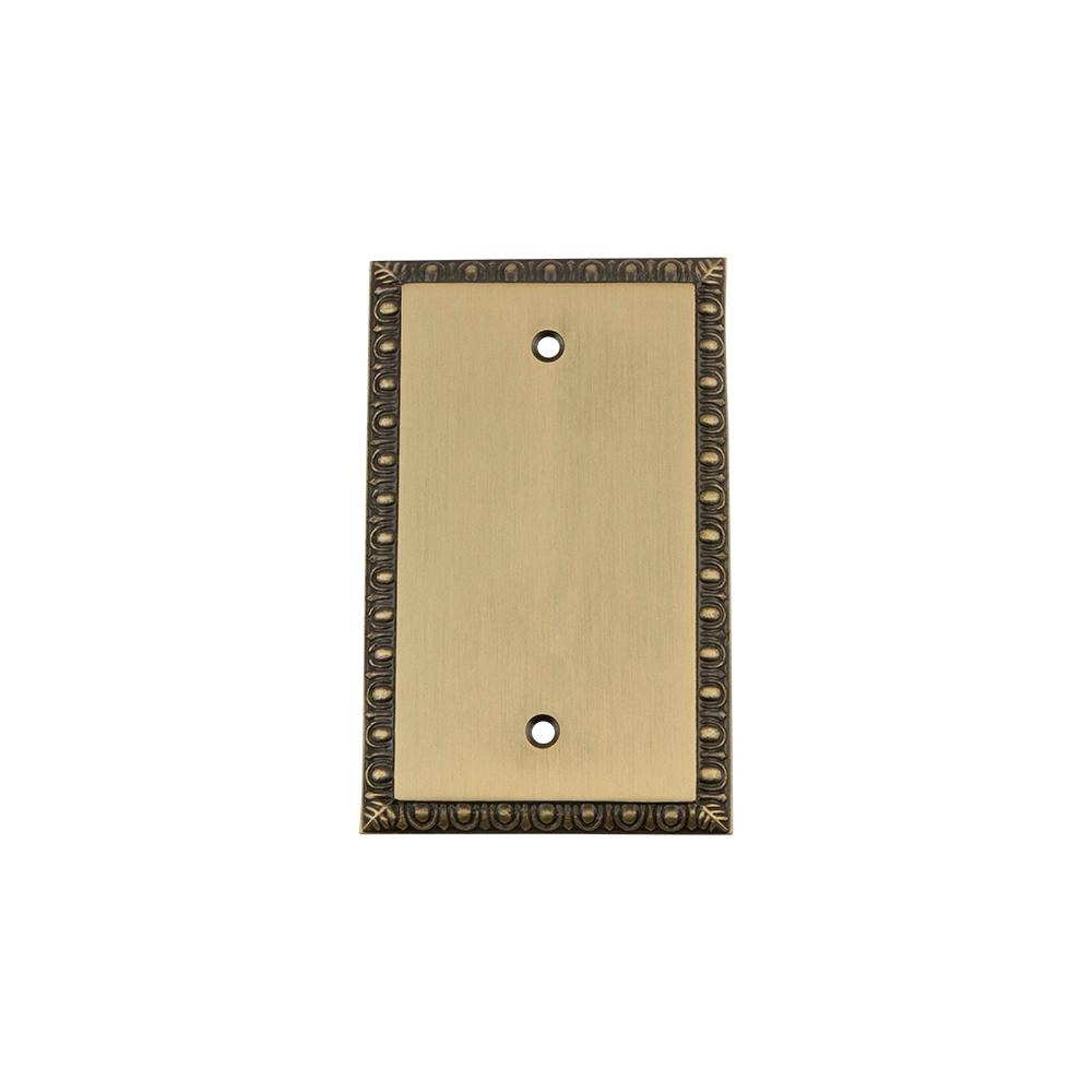 Nostalgic Warehouse Egg and Dart Switch Plate with Blank Cover in ...