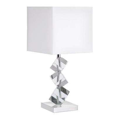 Testoran 21 in. Polished Chrome Table Lamp