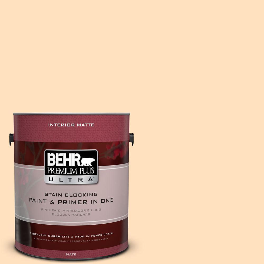 BEHR Premium Plus Ultra 1 gal. #310C-2 Orange Glow Flat/Matte Interior Paint