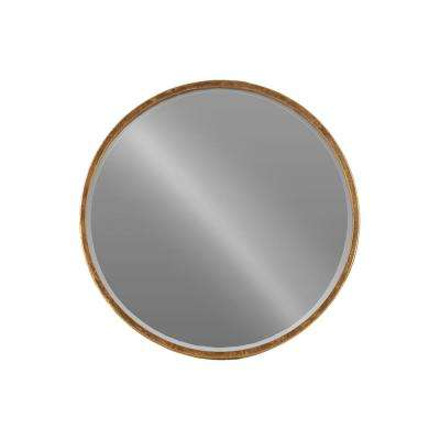 Round Gold Antique Tarnished Wall Mirror