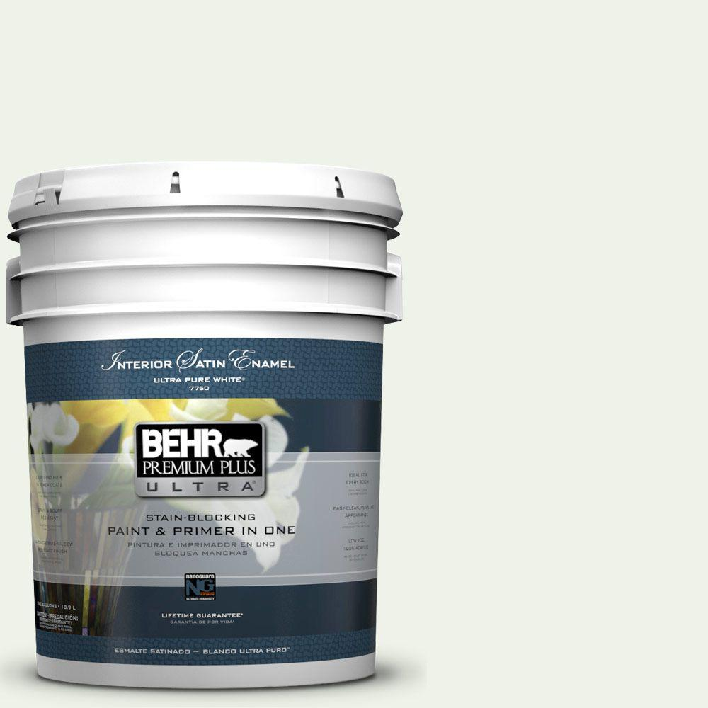 BEHR Premium Plus Ultra 5-gal. #M370-1 Fresh Dew Satin Enamel Interior Paint