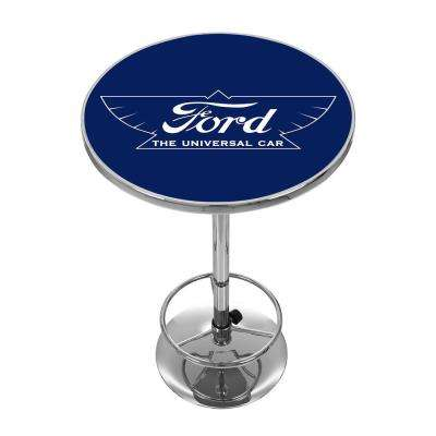 The Universal Car Chrome Pub/Bar Table