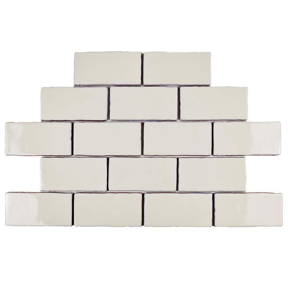 Merola tile antic craquelle white 3 in x 6 in ceramic wall tile merola tile antic craquelle white 3 in x 6 in ceramic wall tile dailygadgetfo Image collections