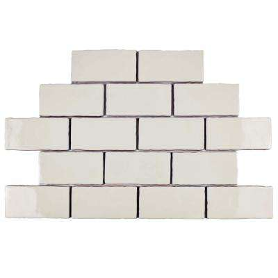 Antic Craquelle White 3 in. x 6 in. Ceramic Wall Tile (2 sq. ft. / pack)