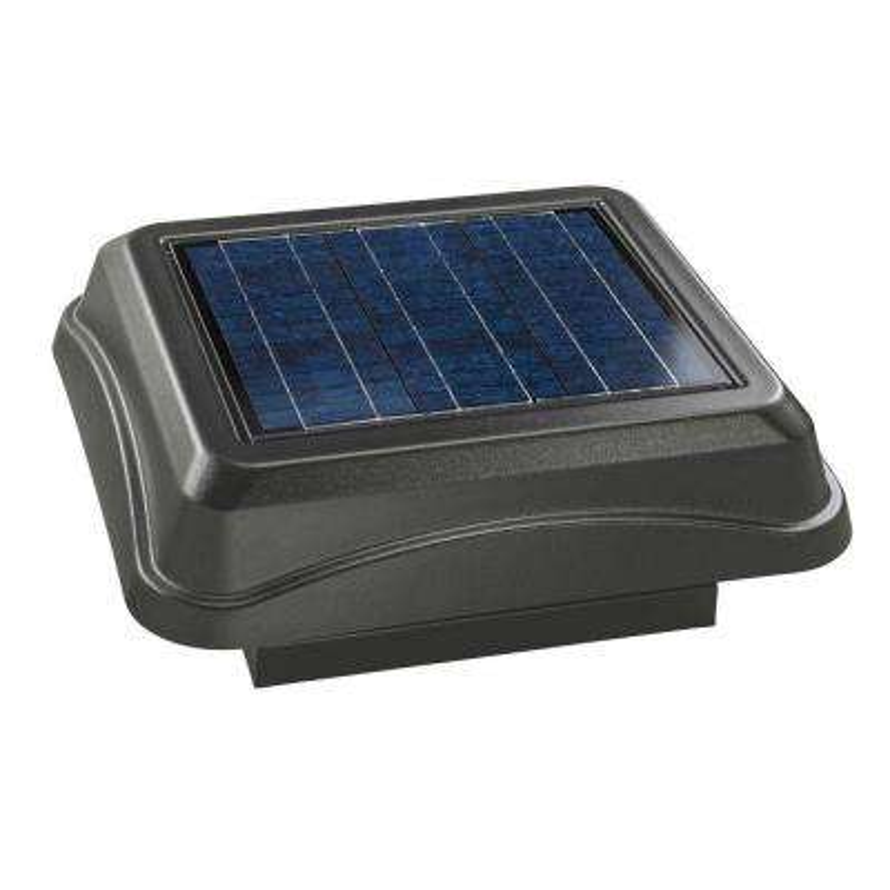 28 Watt Solar-Powered Weathered Wood-Look Curb Mount Attic Vent