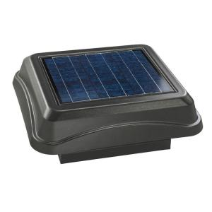 Broan 28 Watt Solar Powered Weathered Wood Look Curb Mount Attic Vent 345csoww The Home Depot