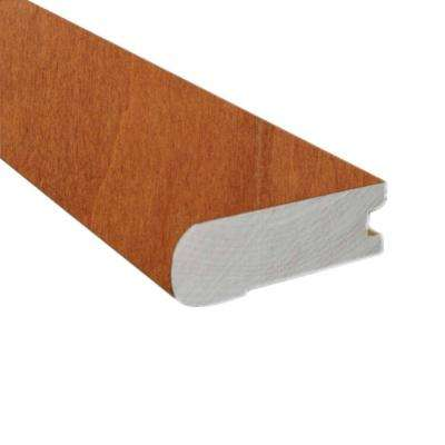 Maple Tawny Wheat 0.78 in. Thick x 3 in. Wide x 78 in. Length Hardwood Flush-Mount Stair Nose Molding