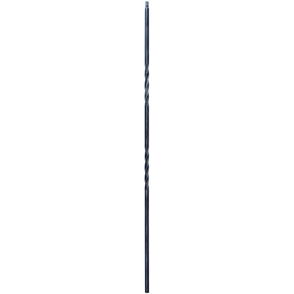 44 in. x 1/2 in. Vintage Nickel Double Twist Metal Baluster