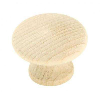 Wood-Unfinished - Cabinet Knobs - Cabinet Hardware - The Home Depot