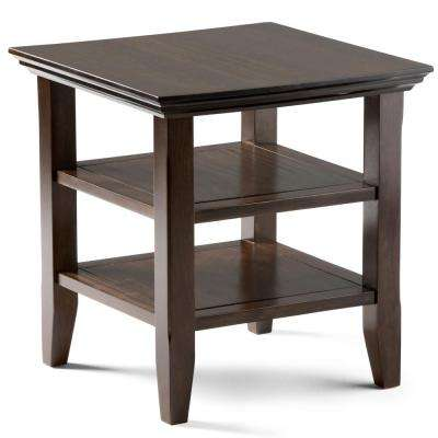 Acadian Tobacco Brown Storage End Table