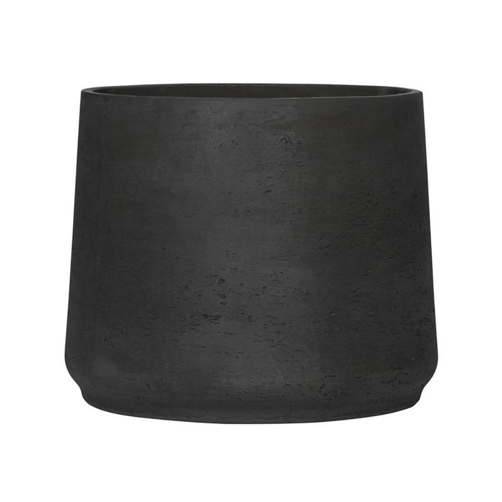 Patt XXXL 15 in. x 18 in. Black Washed Fiberstone Round Bottom Pot