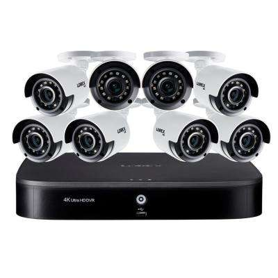 16 Channel 4K Ultra HD DVR Surveillance System with 2TB HDD and 8 x 4K Wired Cameras with Color Night Vision